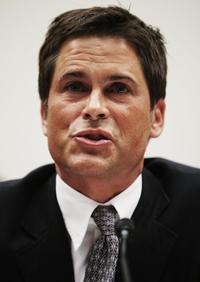 Rob Lowe at the House Select Energy Independence and Global Warming Committee.