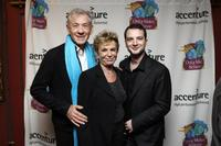 Sir Ian McKellen, Dena Hammerstein and Euan Morton at the Only Make Believe 10th Anniversary after party.