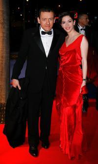 Dany Boon and his wife Yael at the 32nd Cesars French Film Awards Ceremony.