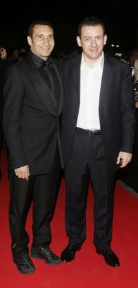 Zinedine Soualem and Dany Boon at the party of