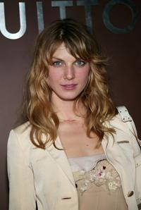 Angela Lindvall at the Louis Vuitton 150th Anniversary party and store opening celebration.