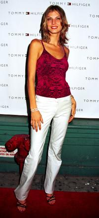 Angela Lindvall at the launch party of hot new Tommy Hilfiger Intimates collection.