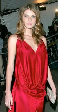 Angela Lindvall at the Metropolitan Museum of Art Costume Institute Benefit Gala.