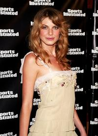 Angela Lindvall at the launch of 2004 Sports Illustrated swimsuit magazine, 40th anniversary issue.