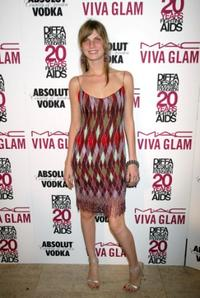Angela Lindvall at the Viva Glam Casino to benefit DIFFA.