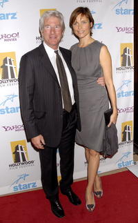Richard Gere and Carey Lowell at the 11th Annual Hollywood Awards.