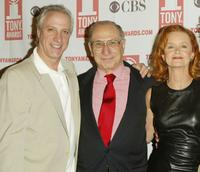 Robert LuPone, Hal Newman and Swoozie Kurtz at the 2004 Tony Awards Nominees Press Reception.