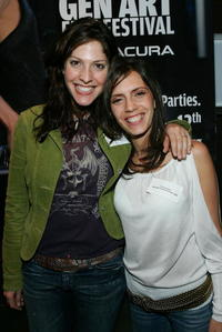 Director Lori Silverbush and Paola Mendoza at the10th Annual Gen Art Film Festival launch party.