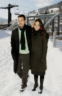 Actors Diego Luna and Alice Braga during the 2006 Sundance Film Festival.