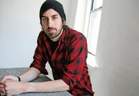 Director Ti West on the set of