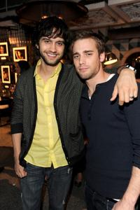 Michael Steger and Dustin Milligan at the benefit for St. Jude Children's Hospital in Los Angeles.