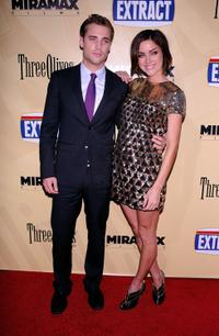 Dustin Milligan and Jessica Stroup at the premiere of