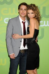 Dustin Milligan and Annalynne McCord at the CW Network's Upfront.