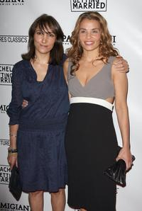 Neda Armian and Jenny Lumet at the premiere of