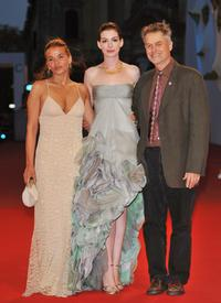 Jenny Lumet, Anne Hathaway and Jonathan Demme at the premiere of