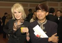 Joanna Lumley and Indian Television Dot Com's founder and CEO Anil Wanvari at the 31st International Emmy Awards Gala.