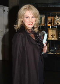 Joanna Lumley at the Late Late Show.
