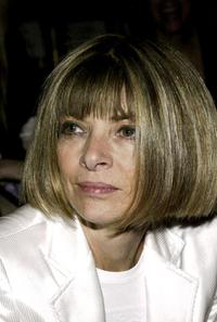 Anna Wintour at the Isaac Mizrahi Fall 2004 Fashion Show.