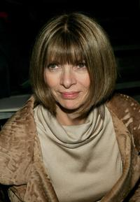Anna Wintour at the Marc Jacobs Fall 2005 show during the Olympus Fashion week.