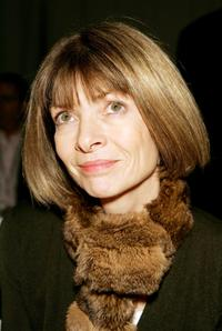 Anna Wintour at the Carlos Rosario Fall 2005 show during the Mercedes-Benz Fashion week.