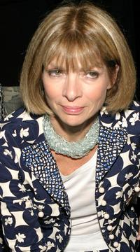Anna Wintour at the Olympus Fashion week Spring 2005.