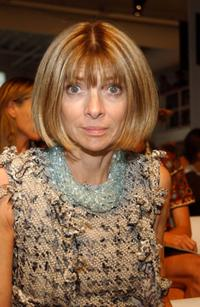 Anna Wintour at the Donna Karan show during the Olympus Fashion week Spring 2005.