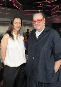 Sally Singer and Paper Magazine co-founder Kim Hastreiter at the Ecco Domani Fashion Foundation EDFF Winners Breakfast in New York.