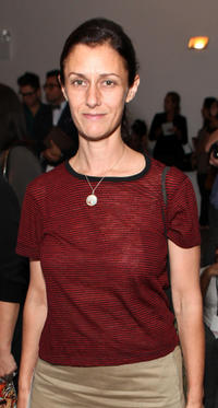 Sally Singer at the Sophie Theallet Spring 2012 fashion show during Mercedes-Benz Fashion Week in New York.