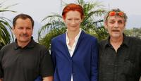 Miroslav Krobot, Tilda Swinton and Guest at the photocall of