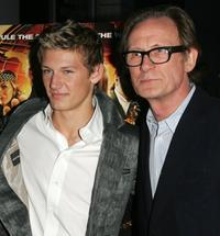 Alex Pettyfer and Bill Nighy at the premiere of