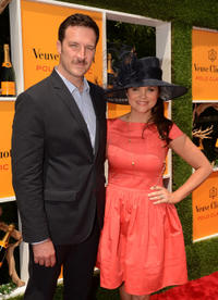 Brady Smith and Tiffani Thiessen at the fifth annual Veuve Clicquot Polo Classic in New Jersey.