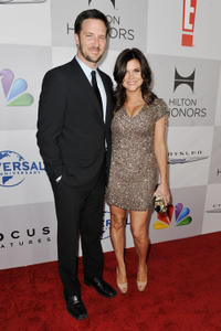 Brady Smith and Tiffani Thiessen at the NBC Universal's 69th Annual Golden Globe Awards after party in California.