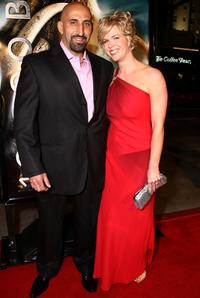 Marco Kahn and Heather Kahn at the premiere of