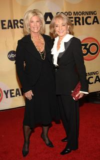 Joan Lunden and Barbara Walters at the ABC's Good Morning America's 30th Anniversary Gala.