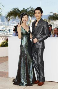 Li Feier and Qin Hao at the photocall of