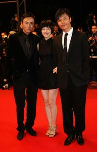 Qin Hao, Tan Zhuo and Chen Sicheng at the premiere of