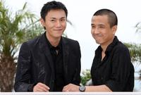 Qin Hao and Director Lou Ye at the photocall of
