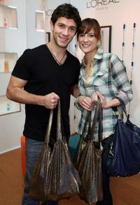 Michael Rady and Rachael Kemery at the L'Oreal Paris suite during the 67th Annual Golden Globe Awards.