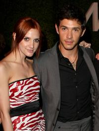 Ashlee Simpson-Wentz and Michael Rady at the premiere party of