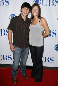 Michael Rady and his friend Rachel Kemery at the premiere of