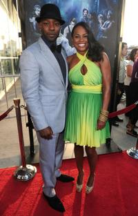 Nelsan Ellis and Guest at the premiere of