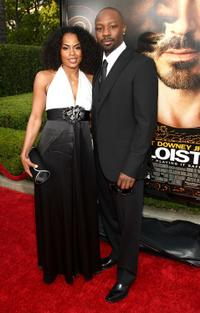 Tiffany Snow and Nelsan Ellis at the premiere of