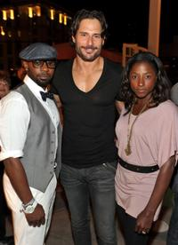 Nelsan Ellis, Joe Manganiello and Rutina Wesley at the Comic-Con 2010.