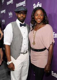 Nelsan Ellis and Rutina Wesley at the Comic-Con 2010.