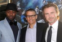 Nelsan Ellis, Michael Lombardo and Sam Trammell at the premiere of