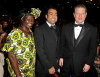 Wangari Maathai, Guest and Al Gore at the 40th NAACP Image Awards.