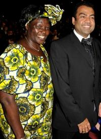 Wangari Maathai and Guest at the 40th NAACP Image Awards.