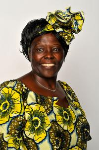 Wangari Maathai at the 40th NAACP Image Awards.