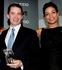 Jim McGreevey and Rosario Dawson at the Out Magazine's 11th Annual