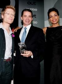 Anthony Rapp, Jim McGreevey and Rosario Dawson at the Out Magazine's 11th Annual